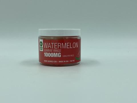 1000MG Watermelon CBD Gummie Rings