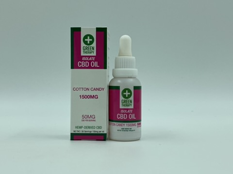 Isolate 1500MG Cotton Candy CBD Oil