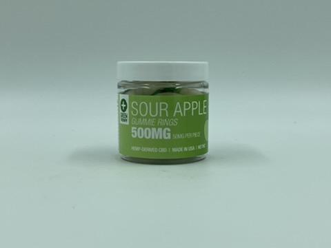 500MG Sour Apple CBD Gummie Rings