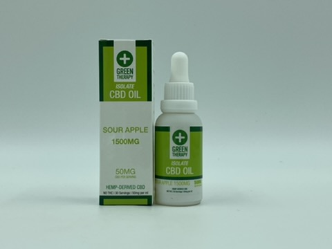 Isolate 1500MG Sour Apple CBD Oil