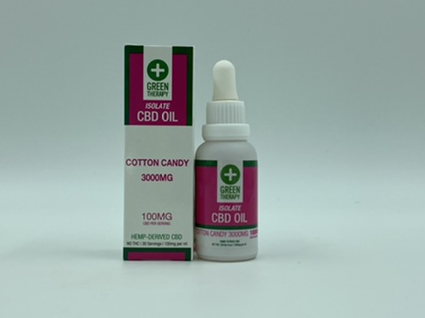 Isolate 3000MG Cotton Candy CBD Oil
