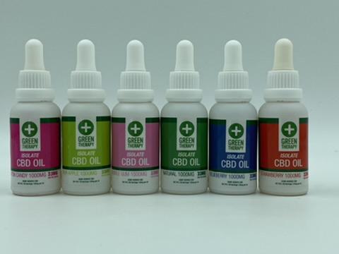 Isolate 1000MG CBD Oil Flavors
