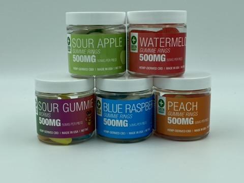 500MG CBD Gummie Ring Flavors