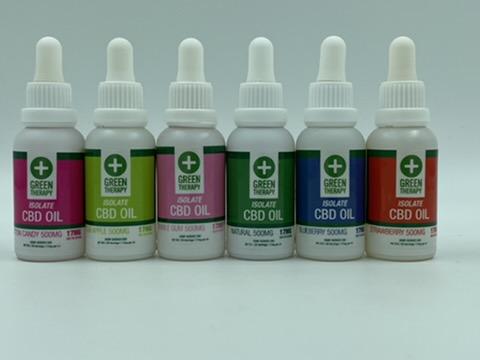 Isolate 500MG CBD Oil Flavors