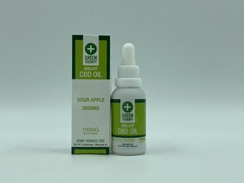Isolate 3000MG Sour Apple CBD Oil