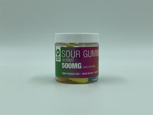 500MG Sour CBD Gummie Worms