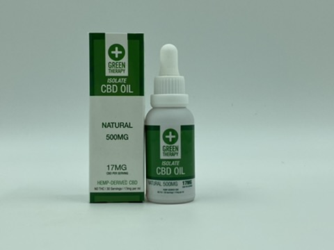 Isolate 500MG Natural CBD Oil