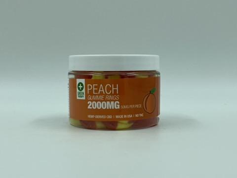 2000MG Peach CBD Gummie Rings