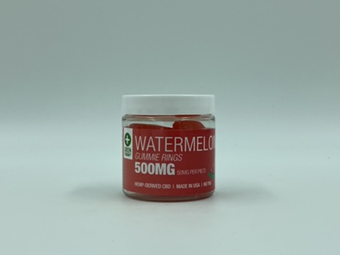 500MG Watermelon CBD Gummie Rings