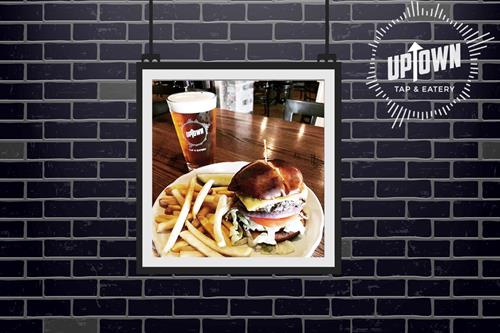 Uptown Tap & Eatery famous burger