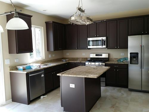 Interior Kitchen - Cabinet Painting