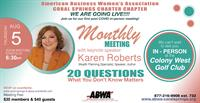 American Business Women's Association Monthly Meeting