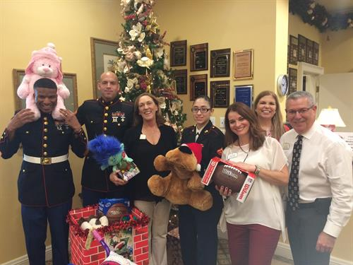 Supporting the Toys for Tots Program in December 2016