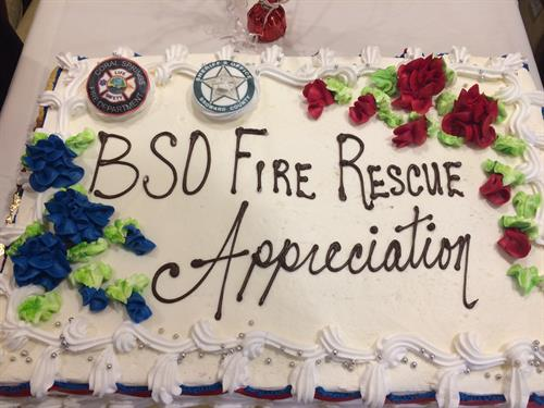 Aston Gardens shows their appreciation for all the BSO, Coral Springs Fire and Paramedics with a great lunch each year.