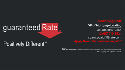 Guaranteed Rate - Sean Segaloff NMLS# 353031