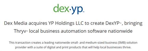 Dex Media acquires YP Holdings LLC to create DexYPTM