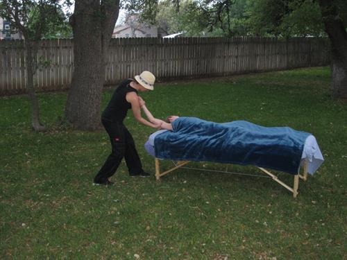 In-Home Backyard Relaxing Massage