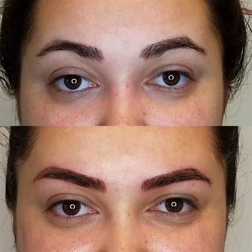 This client had microblading done over a year ago.  She came to me for a touchup and reshape.