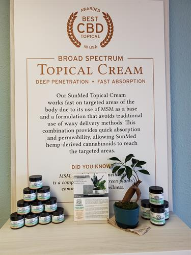 Our award winning topical cream is great for targeted location care.
