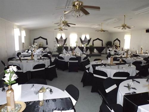 Turkish Wedding Theme with Black, Whiite and Gold combo for 125 Guests.