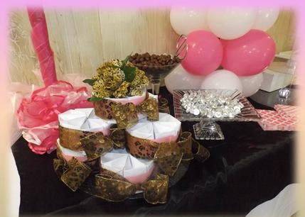 "Candy Buffet for Baby Shower "" Cheetah Theme"" for 100 Guests"