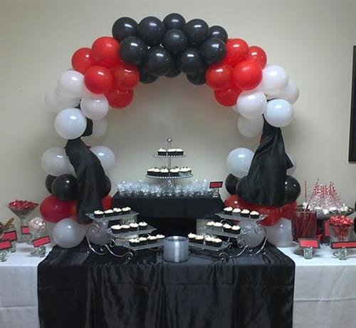 Buffets and Table Balloon Arches local Camden area event
