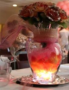Centerpieces with Lighting, Real or Artificial Flowers, We create them all.
