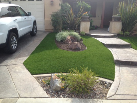 Tough Turtle Turf Artificial Grass residential install