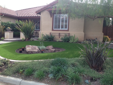 Front yard install by Tough Turtle Turf Artificial Grass