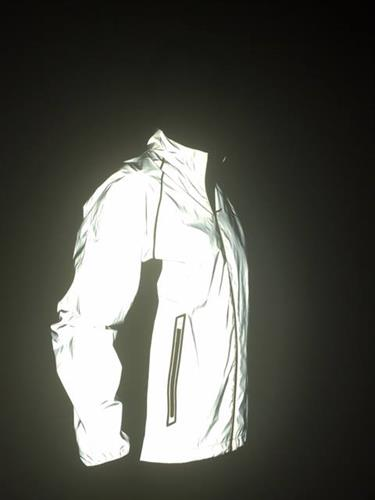 And the reflective jacket AFTER (using just a flash camera-same room)