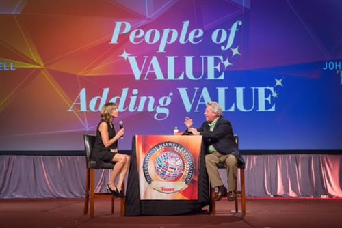 On stage with Dr. John C. Maxwell 2017