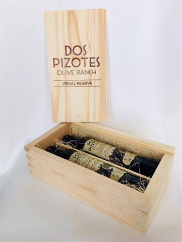 Olive Oil Gift Box with Two 500 ml Bottles