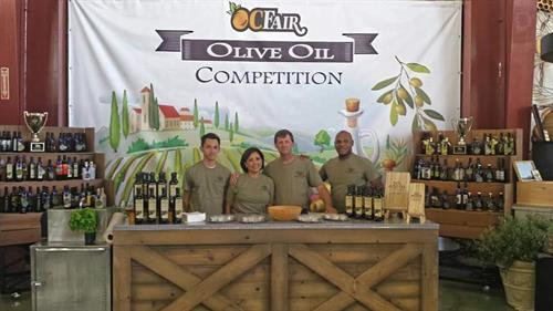 Orange County Fair Olive Oil Competition Booth