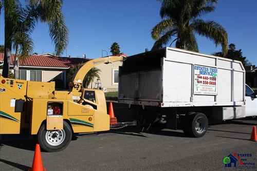 Estates Tree Service Truck and Chipper