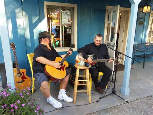 music on patio