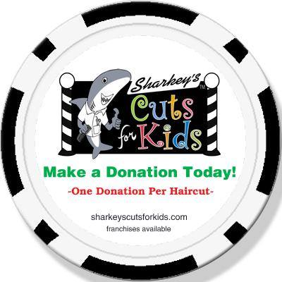 Donation chips, $$ to local charities from every haircut