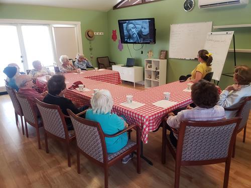 O.W.L.S Class  (Older Wiser Learners Society)in full swing!
