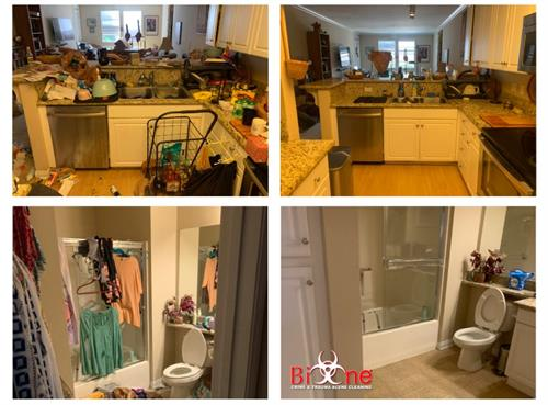 Bathroom and Kitchen Clean Up