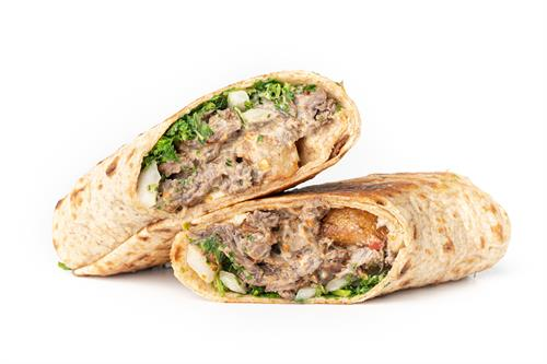 Meat & Spicy Tahini Wrap