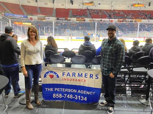 Customer Appreciation night at the Gulls game