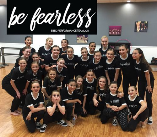 "Step by Step Dance team in their ""be fearless"" shirts (by Big Frog)"