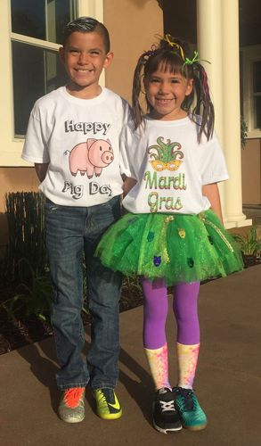 Costumes for kids, courtesy of Grandma and Big Frog!