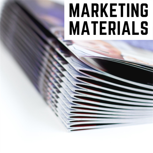 We do Marketing Materials, From Booklets to Banners and everything in between!