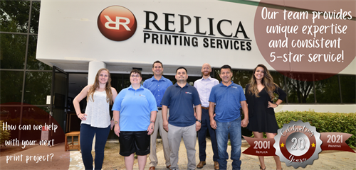 Providing San Diego Businesses unparalleled service from start to finish. Our responsiveness, attention to detail and consultative approach paired with outstanding print quality is why our clients continue to come back and leave us 5 star reviews. Call 858-549-5380 or visit www.ReplicaPrinting.com to help with your next project.