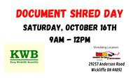 City of Wickliffe Document Shred Event @ Rad Air in Wickliffe