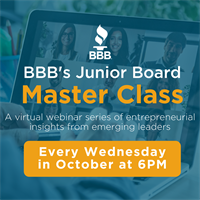 BBB's Jr. Board Master Class: A series of entrepreneurial insights from emerging leaders Descriptio