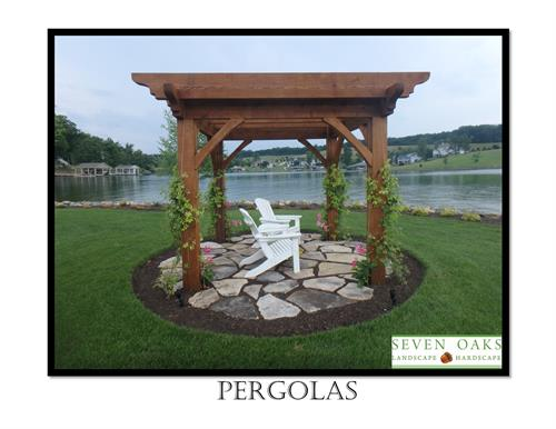 Relax and enjoy the view from a Pergola!