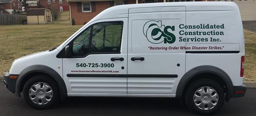 New Consolidated Construction Services Vehicle.