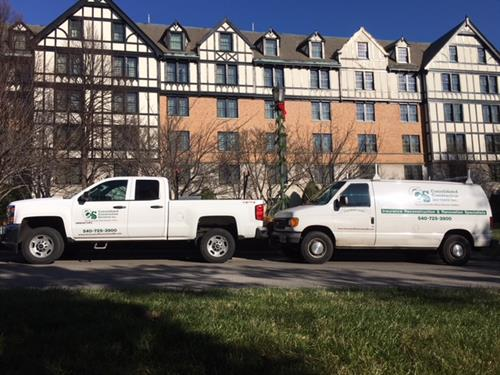 Consolidated Construction Services trucks.