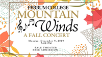 Ferrum College Mountain Winds Will Present Fall Concert on December 9